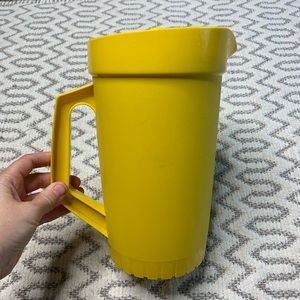 Vintage Tupperware Yellow Pitcher